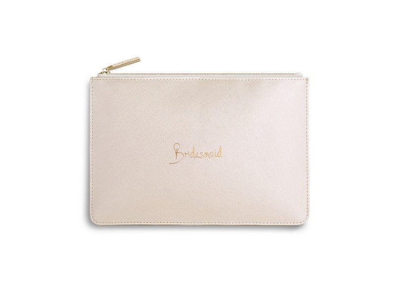 Perfect Pouch - Bridesmaid, Metallic White