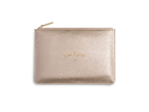 Perfect Pouch - Just Married, Metallic Gold