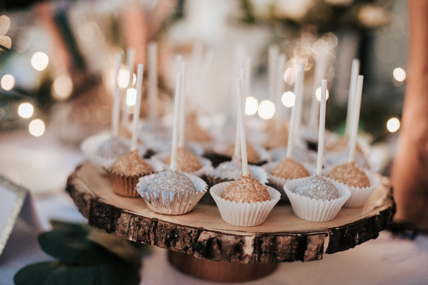 Celebration Cake Pops in Gold and Silver