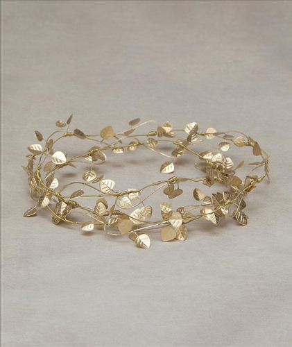 Alena Gold Metallic Wire Crown