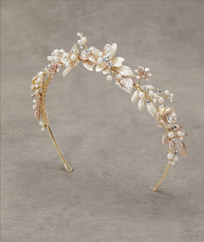 Licea Gold Headband with Pearl Detail