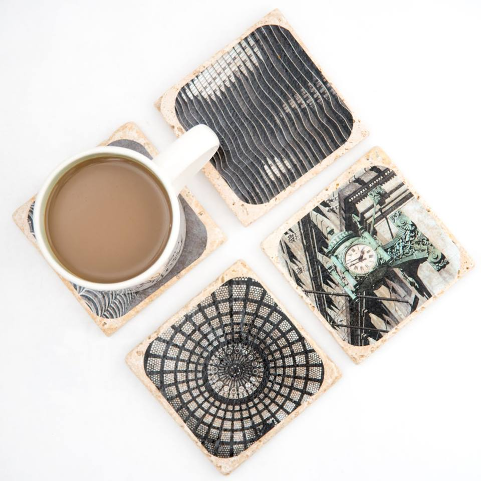 Handmade Architecture-Inspired Coaster Set