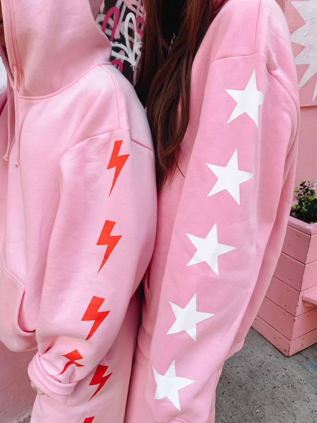 Limited Pink Bolt Hoodie