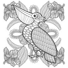Load image into Gallery viewer, Adult Stress & the Effects of Coloring Plus - Adult Coloring Book - Bird Pattern For Beginners