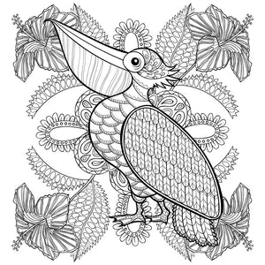 Adult Coloring Book - Bird Pattern For Beginners