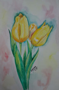 How to Paint Flowers In Water Colors Step by Step Lessons