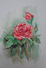 Load image into Gallery viewer, How to Paint Flowers In Water Colors Step by Step Lessons