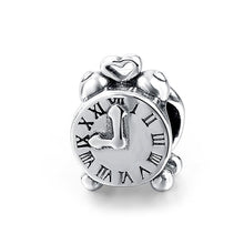 Load image into Gallery viewer, Silver Clock Charm - The Silver Goose