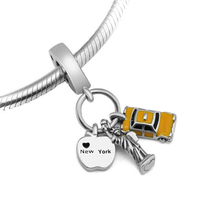 New York Pendant Charm - The Silver Goose