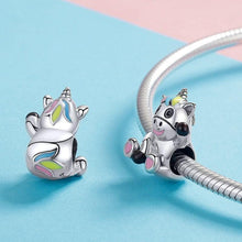 Load image into Gallery viewer, Unicorn Cow Charm - The Silver Goose