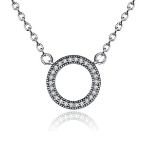 Circle Pendant Necklace - The Silver Goose