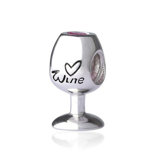 Silver Wine Glass Charm - The Silver Goose