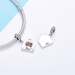 Love Letter Pendant Charm - The Silver Goose