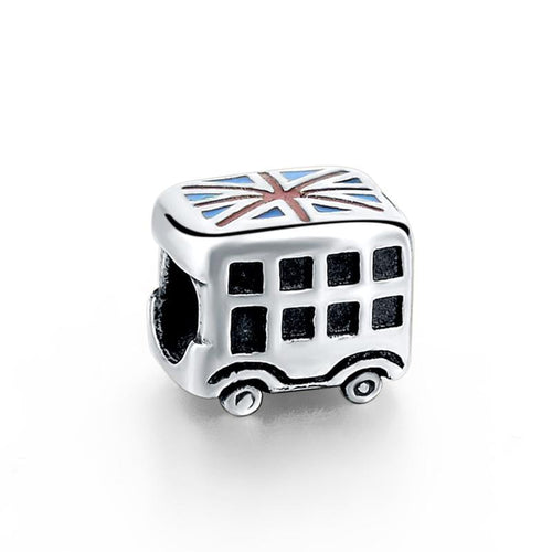 UK Bus Charm - The Silver Goose