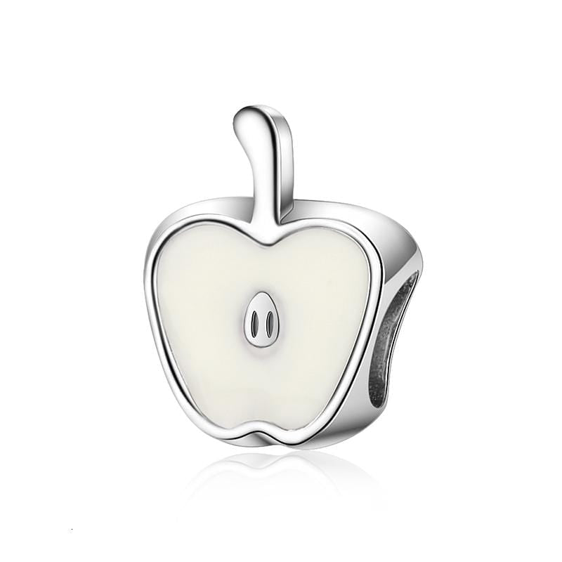White Apple Charm - The Silver Goose