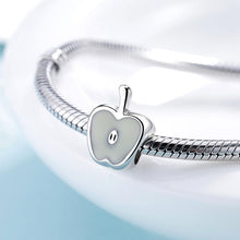 Load image into Gallery viewer, White Apple Charm - The Silver Goose