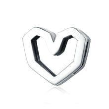 Load image into Gallery viewer, Heart Reflexion Charm - The Silver Goose