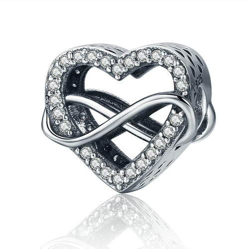 Infinity Heart Charm - The Silver Goose