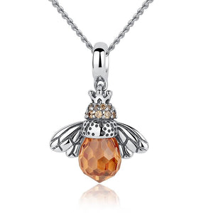 Bee Pendant Necklace - The Silver Goose