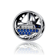 Load image into Gallery viewer, Compass Boat Charm - The Silver Goose