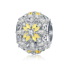 Load image into Gallery viewer, Dazzling Yellow Flower Bead Charm - The Silver Goose