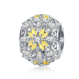Dazzling Yellow Flower Bead Charm - The Silver Goose