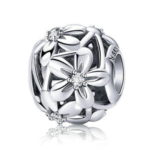 Load image into Gallery viewer, Silver Flower Bead Charm - The Silver Goose