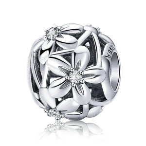 Silver Flower Bead Charm - The Silver Goose