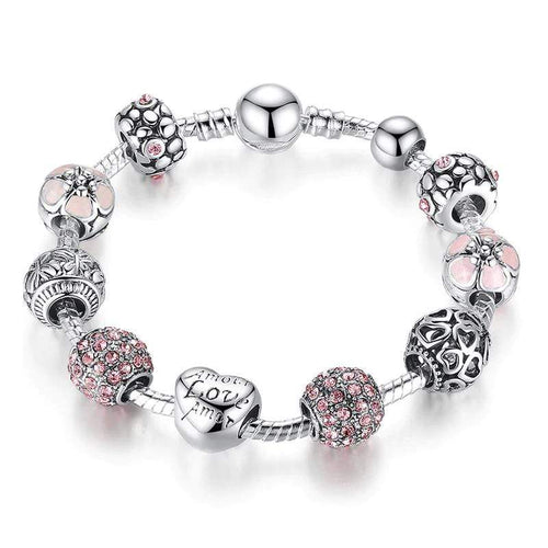 Costume Jewelry Pink Bead Bracelet - The Silver Goose