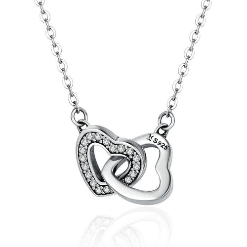 Connected Hearts Pendant Necklace - The Silver Goose