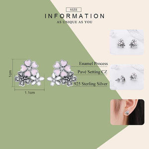 Daisy Cherry Blossom Earrings - The Silver Goose