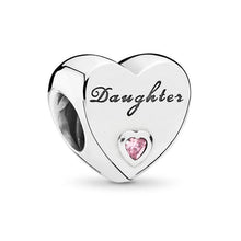 Load image into Gallery viewer, Daughter Heart Charm - The Silver Goose