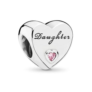 Daughter Heart Charm - The Silver Goose