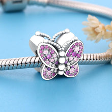 Load image into Gallery viewer, Dazzling Pink Butterfly Charm - The Silver Goose