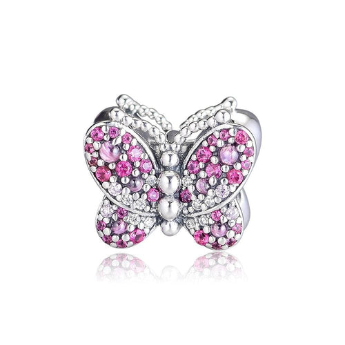 Dazzling Pink Butterfly Charm - The Silver Goose