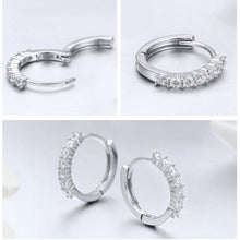 Load image into Gallery viewer, Dazzling Round Hoop Earrings - The Silver Goose