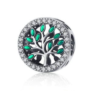 Dazzling Tree of Life Charm - The Silver Goose