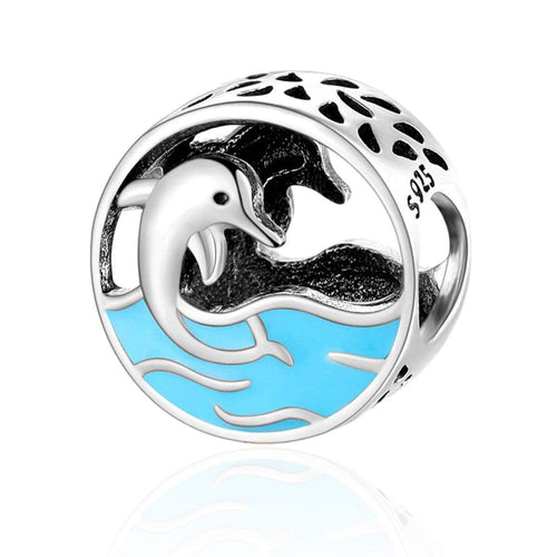 Dolphin Bead Charm - The Silver Goose