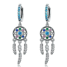 Load image into Gallery viewer, Dreamcatcher Dangle Earrings - The Silver Goose