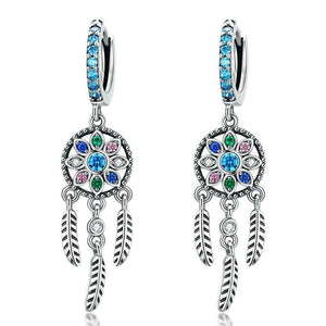 Dreamcatcher Dangle Earrings - The Silver Goose
