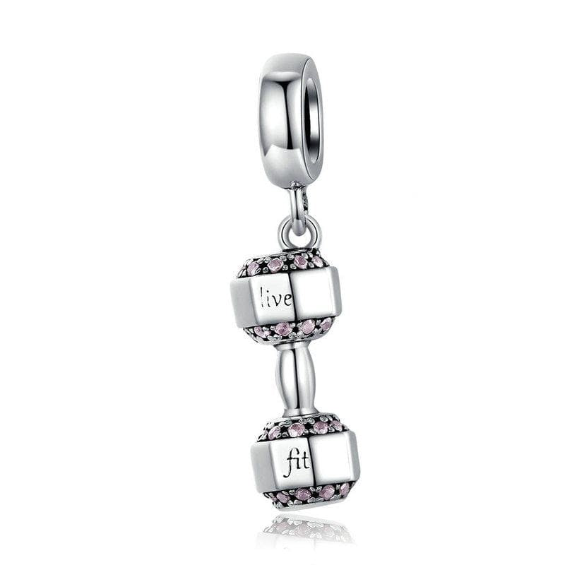 Dumbbell Pendant Charm - The Silver Goose