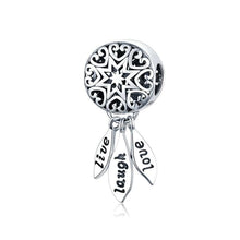Load image into Gallery viewer, Live Laugh Love Dreamcatcher Charm - The Silver Goose