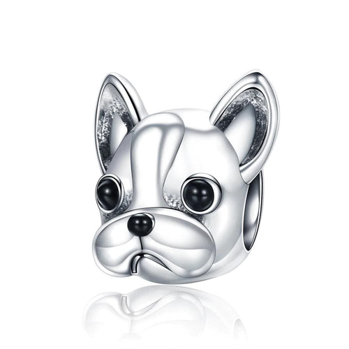 French Bulldog Face Charm - The Silver Goose