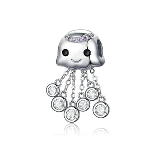 Jellyfish Charm - The Silver Goose