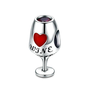 Wine Glass Charm - The Silver Goose