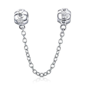 Heart Safety Chain - The Silver Goose