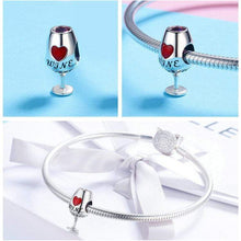 Load image into Gallery viewer, Wine Glass Charm - The Silver Goose