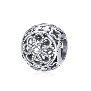 Flower Bead Charm - The Silver Goose