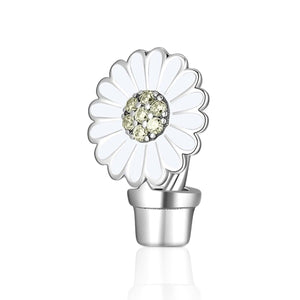 Flower Pot Plant Charm - The Silver Goose