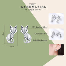 Load image into Gallery viewer, Fox Earrings - The Silver Goose